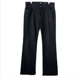 7 For All Mankind men's bootcut black jeans